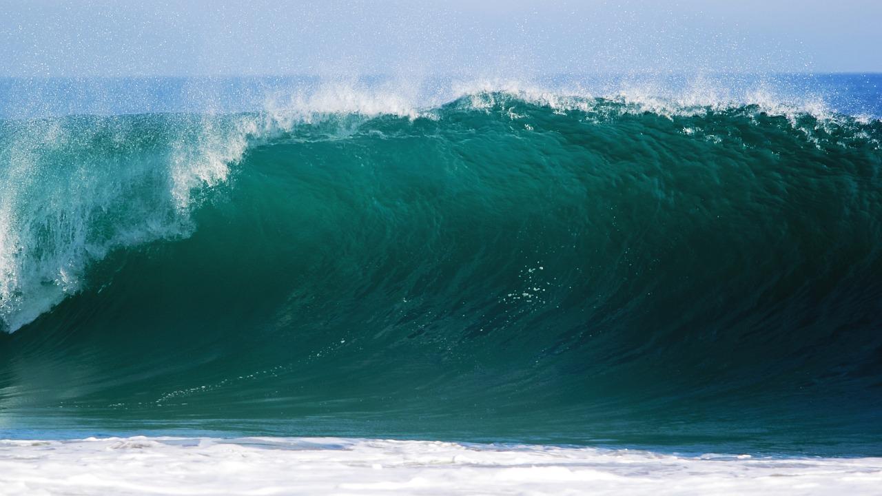 ocean, wave, sea